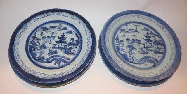 Canton Plates. C. 1800's (Four) - 2
