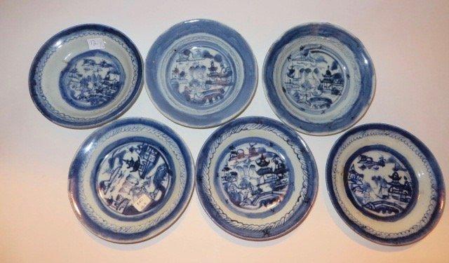 Canton Shallow Bowls . (6)