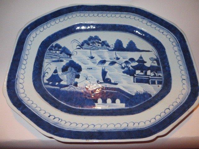 Canton Platter C. Mid-1800's