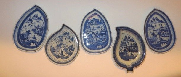 Canton Leaf Dishes (5)