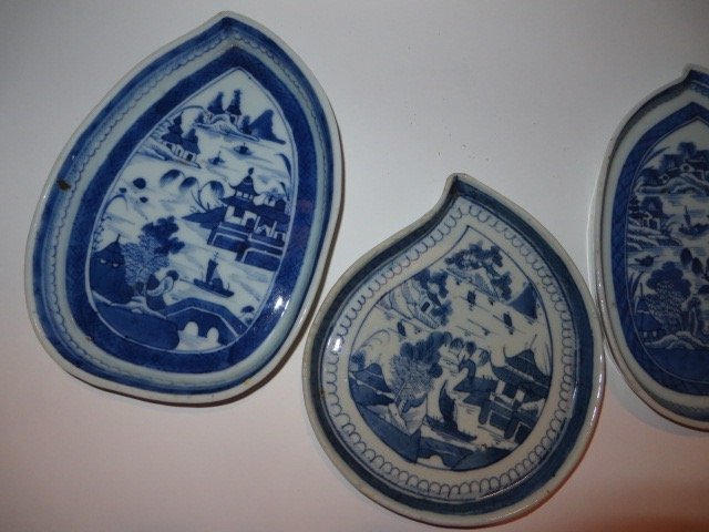 Canton Leaf Dishes (5) - 2