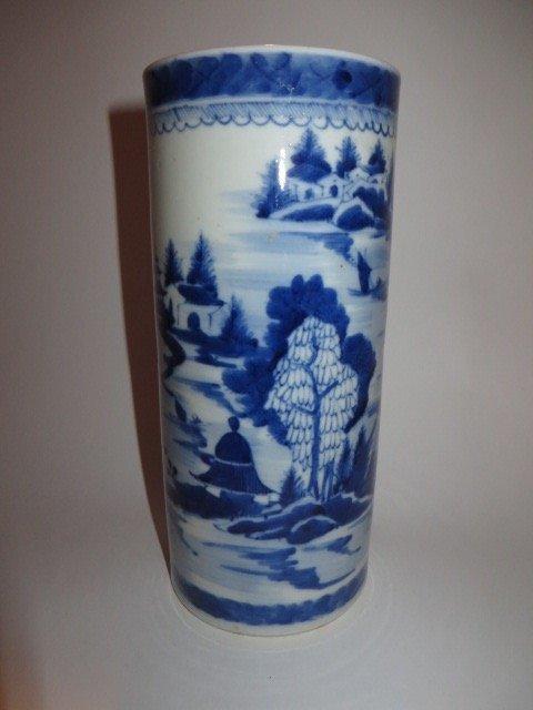 Canton Vase or Brush Pot C. 1830
