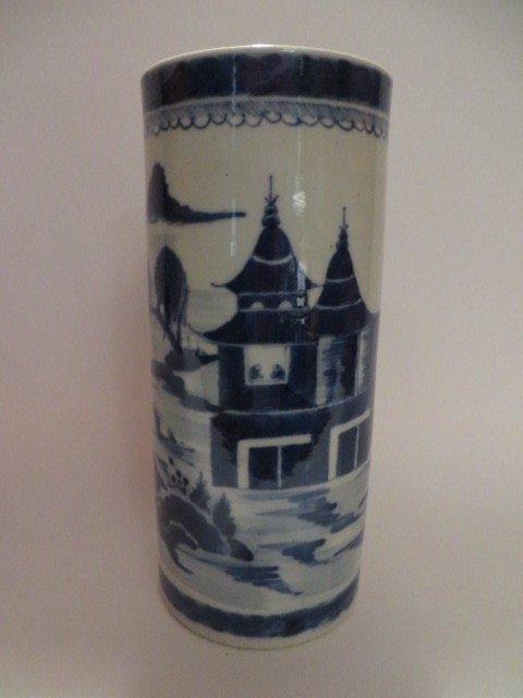 Canton Vase or Brush Pot C. 1830 - 3