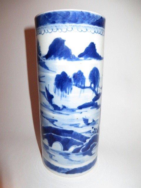 Canton Vase or Brush Pot C. 1830 - 4