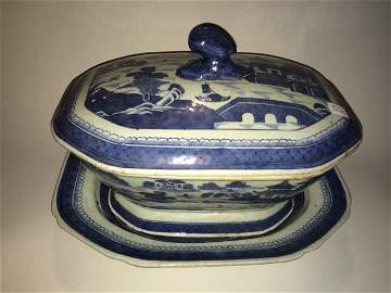 Canton Soup Tureen and Undertray