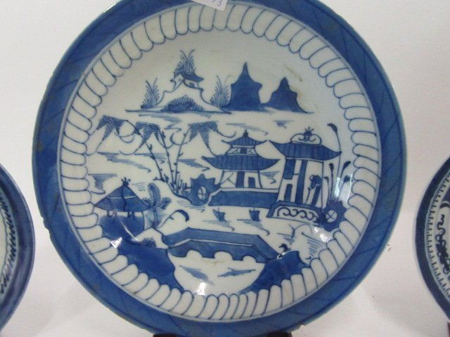 Canton Bowl, Plate and Saucer - 2