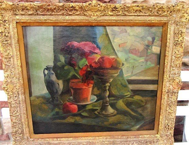 Sheo Sensawa, Oil. Floral Still Life  Signed
