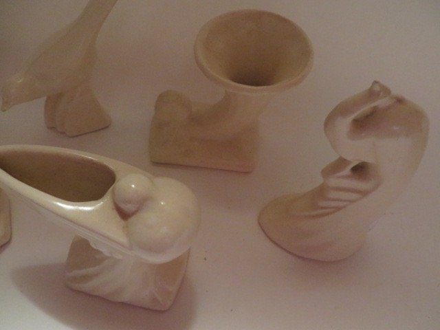 American Art Pottery Figural Vases - 4