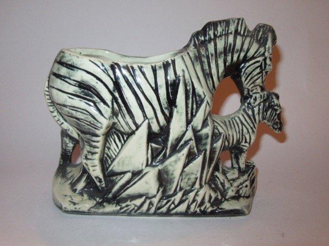 McCoy Zebra and Baby Zebra Planter