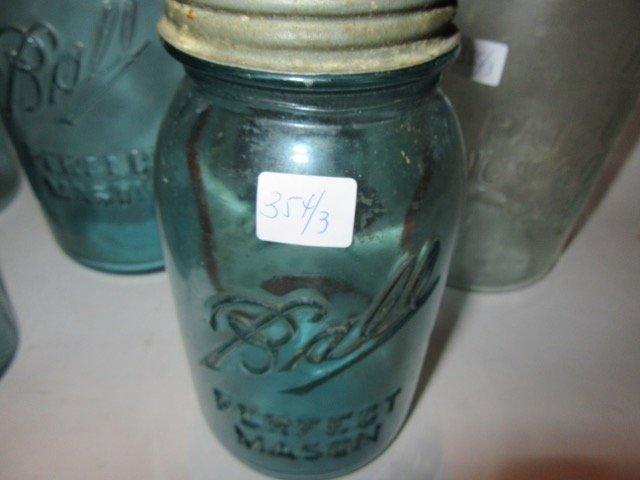 Ball Blue Glass Mason Jars (3)