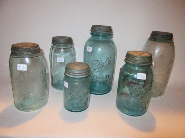 Ball Blue Glass Mason Jars (3) - 2