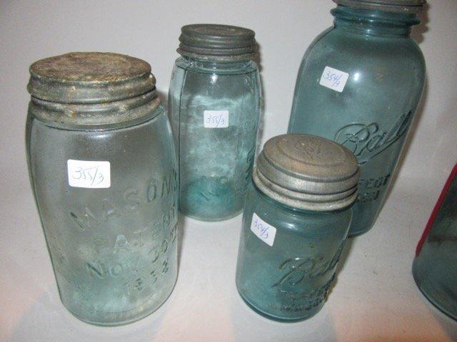 Ball Blue Glass Mason Jars (3) - 3