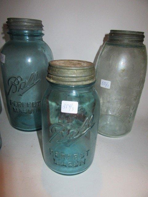 Ball Blue Glass Mason Jars (3) - 4