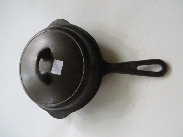 Griswold Cast Iron Covered Skillet .