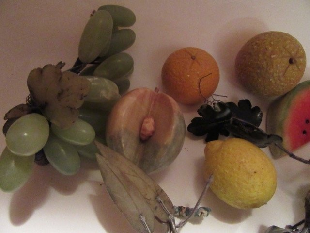 Glass Fruit- 14 pc. In the lot