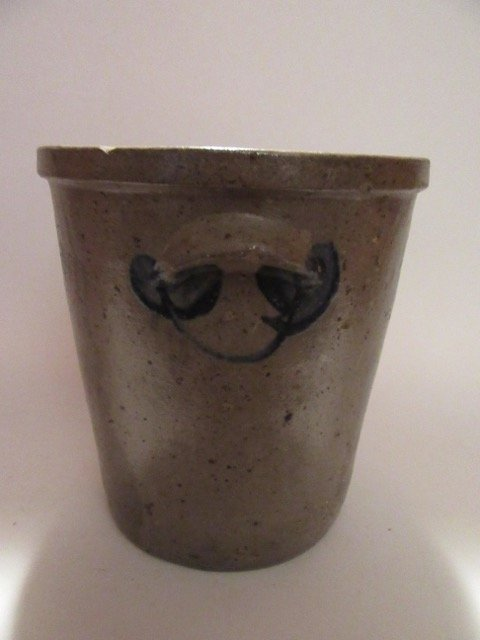 Stoneware Blue Decorated Crock - 2