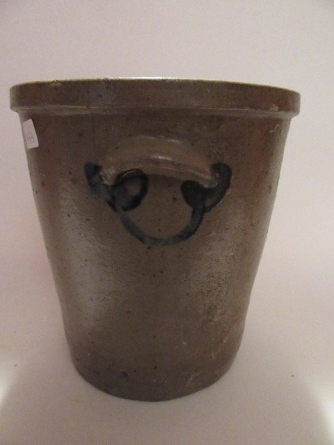 Stoneware Blue Decorated Crock - 4
