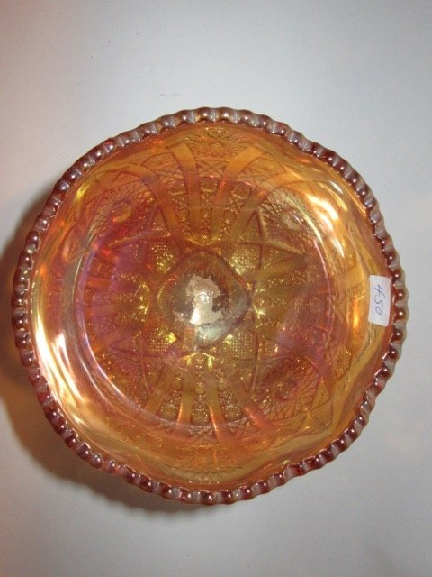 Carnival Glass Pedestaled Compote - 2