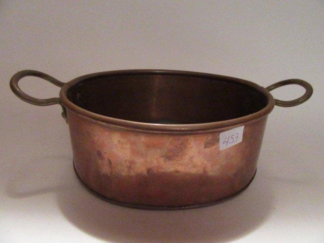 Antique Copper Double Handled Pot