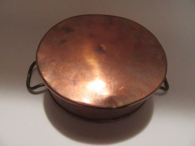 Antique Copper Double Handled Pot - 3