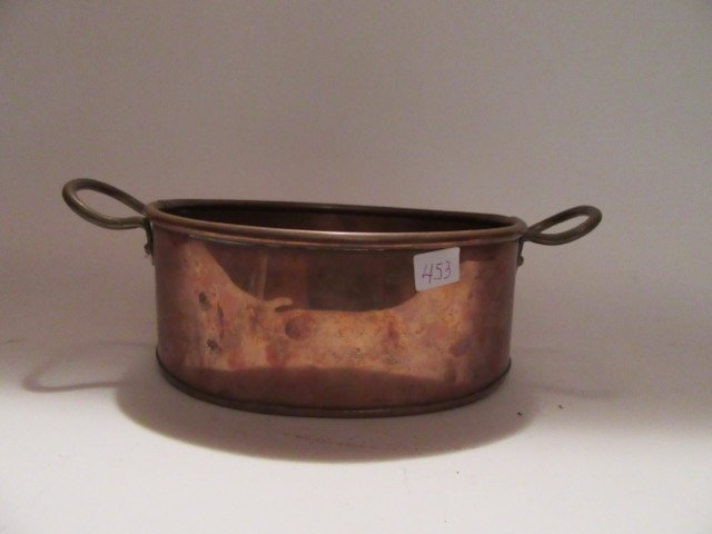Antique Copper Double Handled Pot - 4
