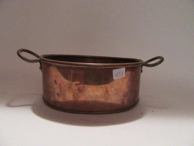 Antique Copper Double Handled Pot - 4