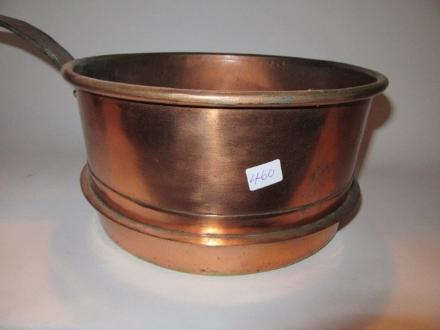 Antique Iron Handled Copper Pan - 2