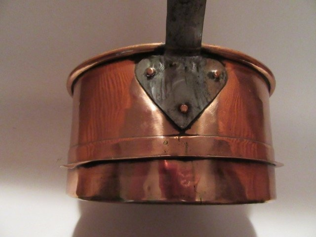 Antique Iron Handled Copper Pan - 4