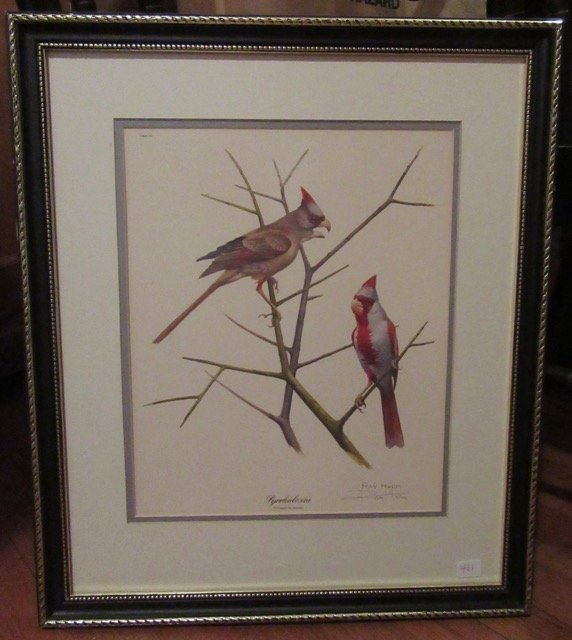 Ray Harm Bird Lithograph Signed