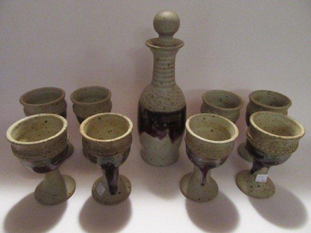 Stoneware Beverage Set Sgd.Leon Kula