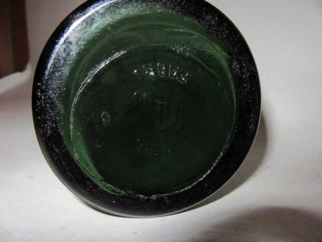 Green Glass Bottle & Sterling Label - 5