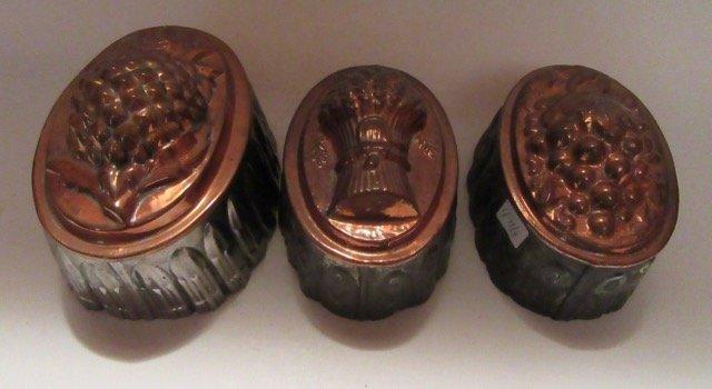 Antique Copper Molds (3)