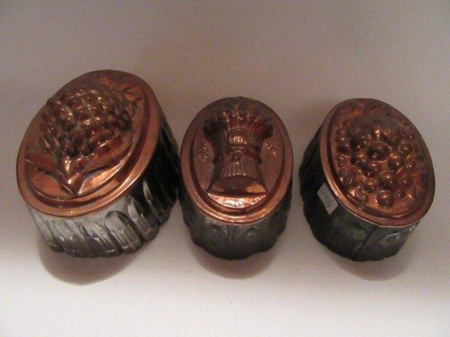 Antique Copper Molds (3) - 2