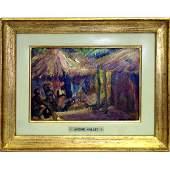 113: André Hallet, oil on panel