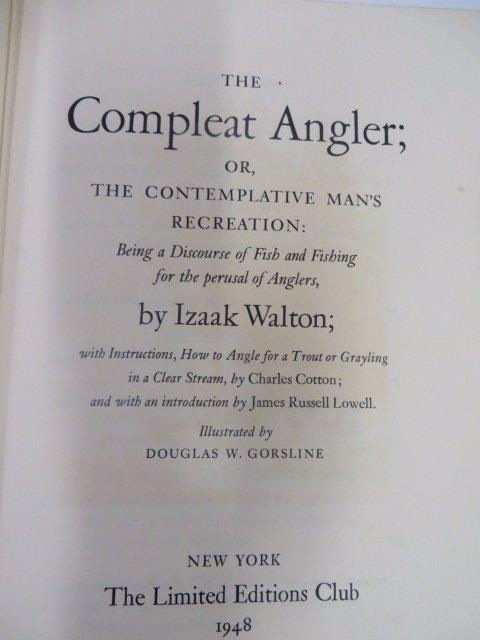 Walton. Cotton.  Compleat Angler. 1948. Sgd.