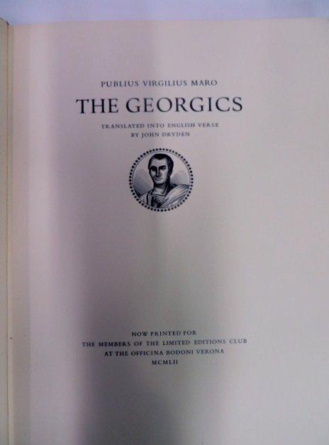 The Georgics. Lmited Editions Club. 1952i