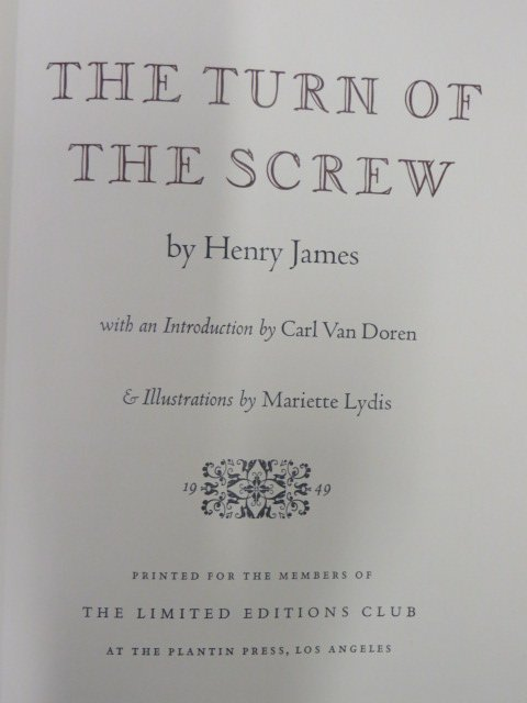 Henry.  Turn  of the Screw. Illus. 1949