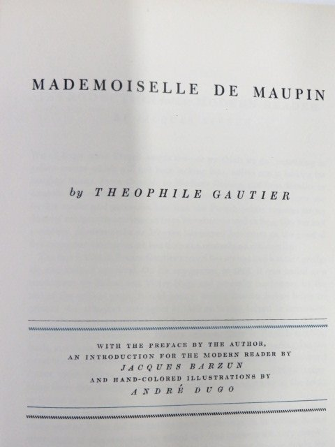 Gautier. Mademoiselle De Maupin. 1943.