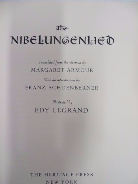 The Nibelungenlied. 1960. Signed