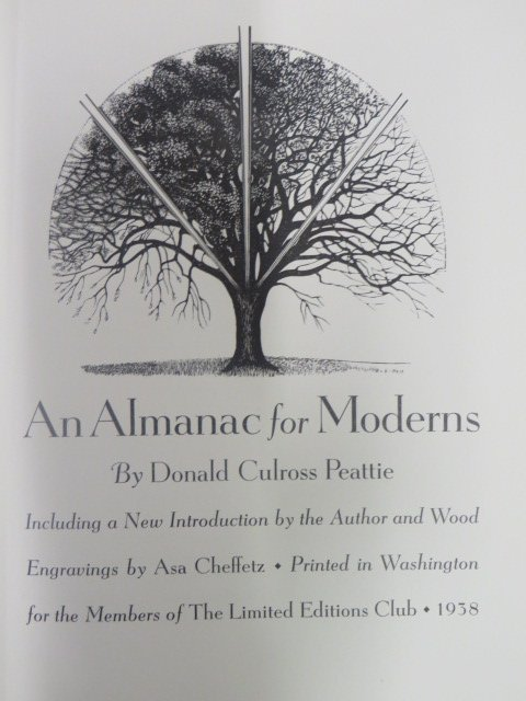 Peattie. Almanac for Moderns. 1938. Limited Editions