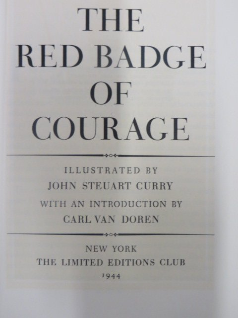 Crane.  Red Badge of Courage. 1944. Sgd.