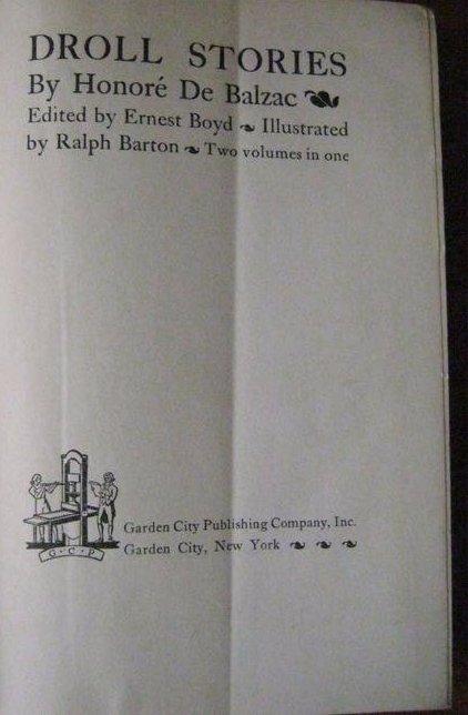 Balzac. Honore. Droll Stories. 1932. 3 Vols