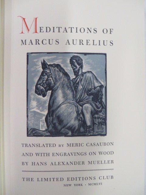 Meditations of Marcus Aurelius. LEC. 1956