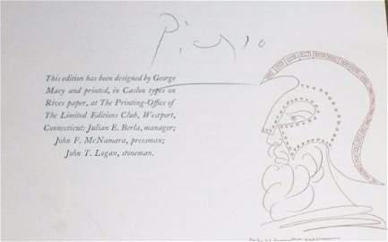 Aristophanes. Lysistrata. 1934. Sgd Picasso