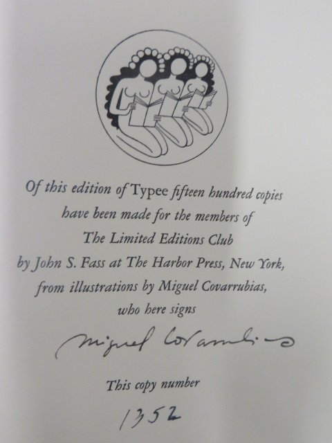 Melville. Typee LEC. 1935. Signed - 2