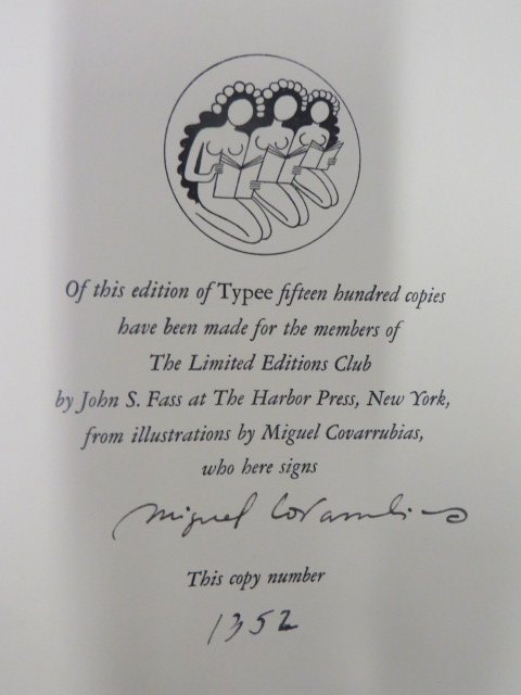 Melville. Typee LEC. 1935. Signed - 3