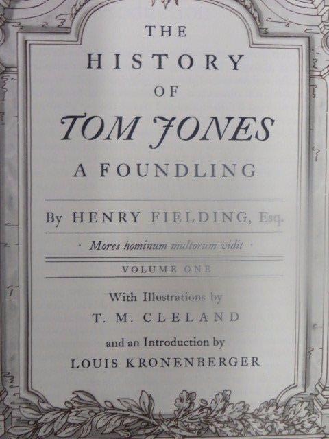Fielding. Henry. History of Tom Jones. 1952