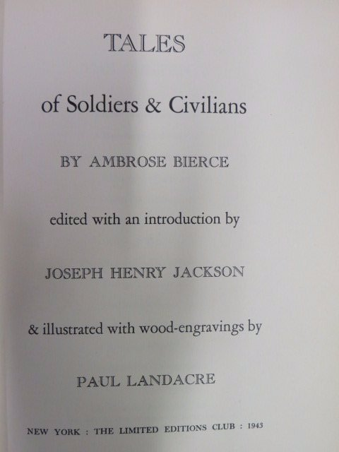 Bierce, Ambrose. Tales of Soldiers & Civilians