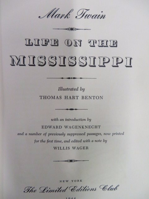 Twain. Life on the Mississippi. 1944. Benton Sgd.
