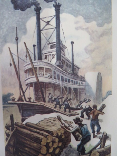 Twain. Life on the Mississippi. 1944. Benton Sgd. - 2